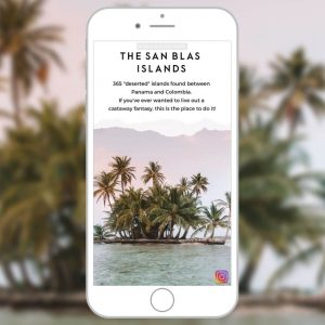Instagram Stories Content Creation for San Blas Adventures
