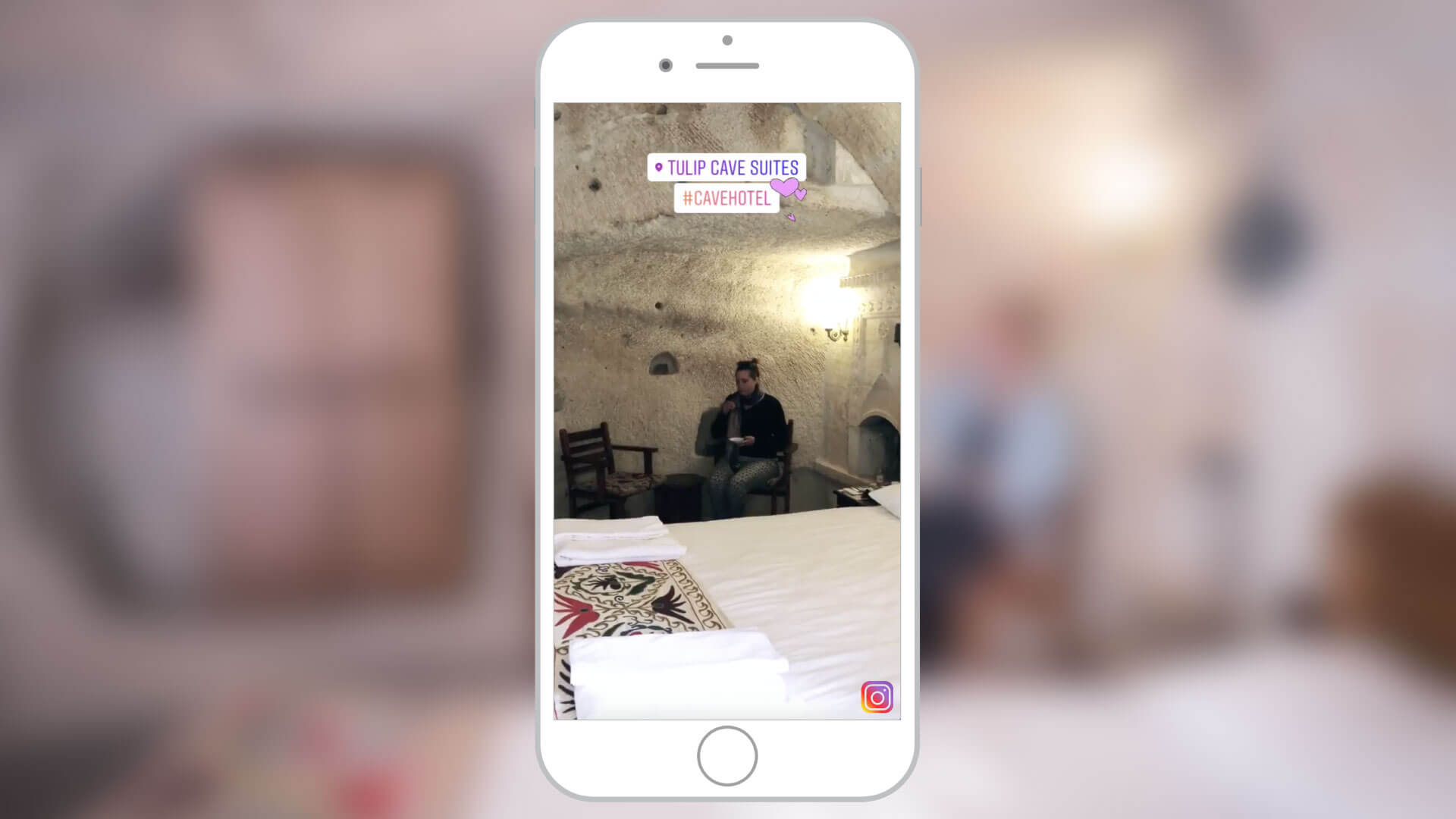 Instagram Stories Content for Tulip Cave Suites